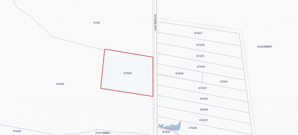 4 ACRES HIGH ROCK - EAST END